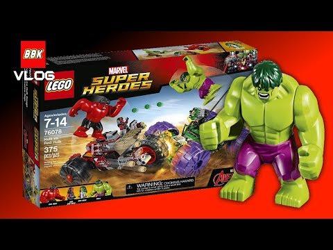 LEGO Super Heroes Hulk vs. Red Hulk 76078 Marvel Lego Speed Build ...
