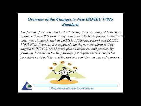 2/17/2017 Webinar: Overview of the Changes to New ISO IEC 17025 Standard
