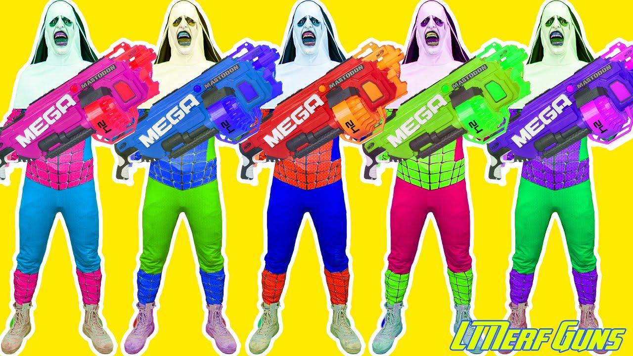 LT Nerf Gun: Team Patrol X Warriors Nerf Guns Fight Criminal Group Valak and Army Zombie