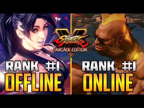 SFV ▰ #1 Offline Player Vs #1 Online Player【Street Fighter V】