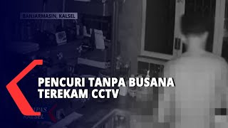 Aksi Pencuri Tanpa Busana Di Sebuah Kedai Kopi Terekam CCTV
