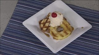 Grilled Pineapple With Pound Cake And Caramel Sauce (part 2)