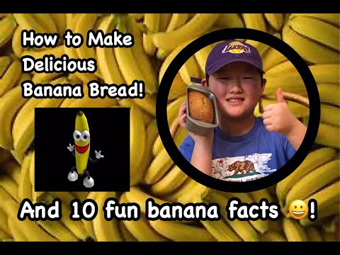 how-to-make-one-bowl-moist-banana-bread-&-10-fun-facts-about-bananas---easy-kid-baking-tutorial