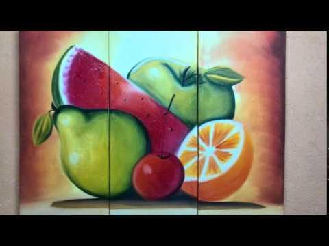 Cuadros pintados en acrilico youtube - Cuadros para cocinas ...