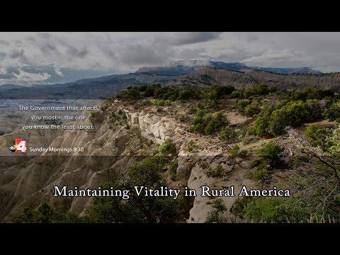 Maintaining the Vitality of Rural Communities in Rural Utah