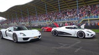 Hypercars on track: P1, LaFerrari, Agera R, 918 Spyder! REVS & Accelerations!