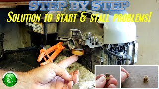 Lawn Mower: START & STALL Solution! (Step By Step)