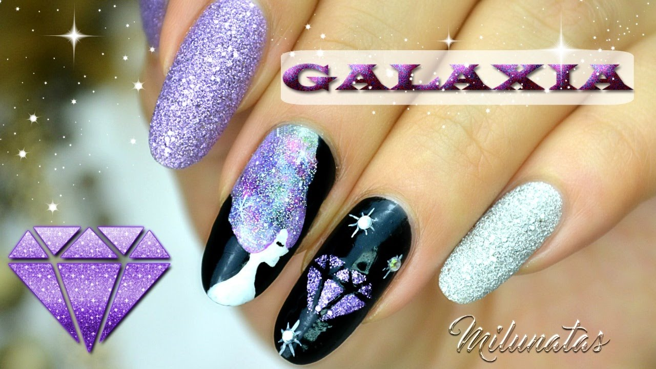 Decoración de Uñas Galaxia DIY plantillas (Nailart Galaxy DIY templates)