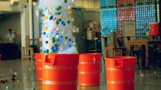 Let's Blow Up Some Barrels of Ping Pong Balls | Street Science