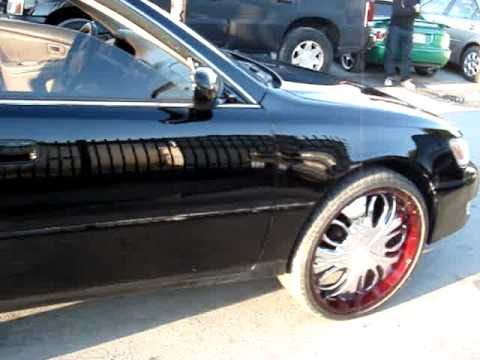 Lexus Es300 Black On 22 Inch Kandy Rims Platinum Style Auto Body