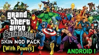 🔴Anime&Marvel Super Heroes Skin Mod pack for GTA SA !Android