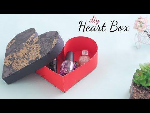DIY Heart Box | Love Box |  Paper Box