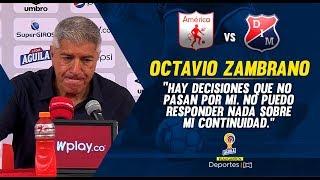 América 3-0 Medellín - Octavio Zambrano rueda de prensa I Deportes RCN
