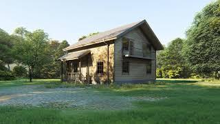 Каркасный дом 10х9 с мансардой. Проект КД-04. Внешний вид
