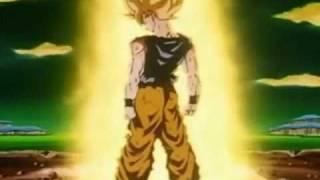 Dbz All Goku First Transformation Into A Super Saiyan 1-4