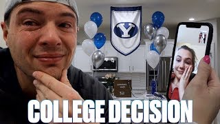 FINDING OUT IF OUR TEENAGE DAUGHTER GOT INTO HER DREAM COLLEGE | EMOTIONAL DAD LOSES IT