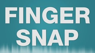 Finger Snap SOUND EFFECT - Fingerschnipsen SOUNDS
