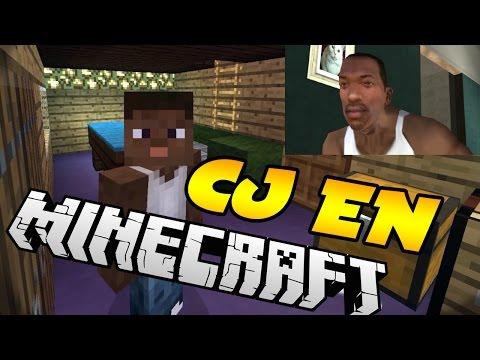 CJ Juega al Minecraft! | GTA SA en Minecraft Parodia