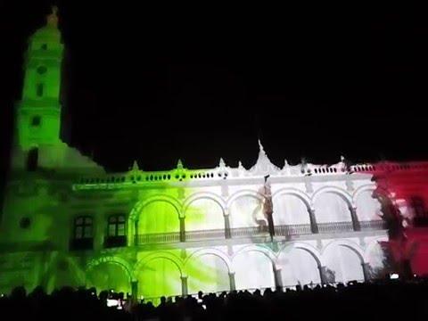 Videomapping en el 497 aniversario de la fundación de Veracruz