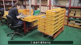 [공장물류자동화] 물류자동화시스템을 자동높낮이조절되는 …