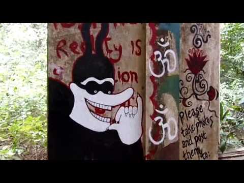 Amazing graffiti at the Beatles ashram, India