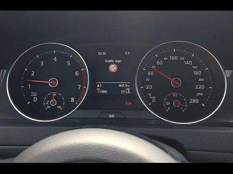 VW Golf 7, MY2014 - Traffic Sign Assist activation - vključitev prepoznave  prometnih znakov