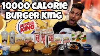 BURGER KING 10000 Calorie Challenge - Italiano Cheat Day - MAN VS FOOD (ENG SUB)