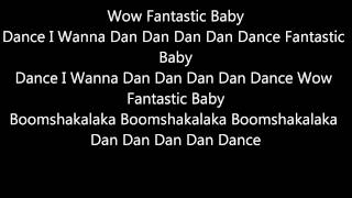 Fantastic Baby - Bigbang - English Lyrics