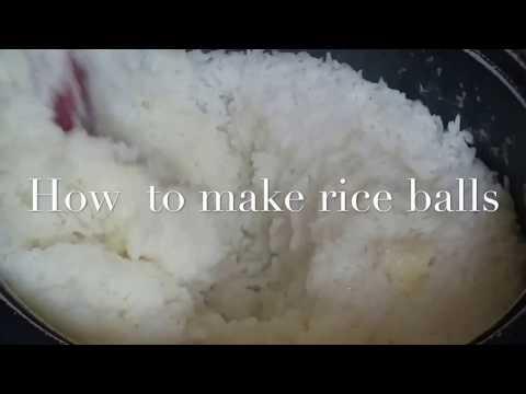 Ghana rice balls - Omu tuo