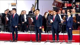 Arif Nihat Asya'nın Bir Bayrak Rüzgar Bekliyor Şiiri - Cumhuriyet Bayramı Törenleri - TRT Avaz