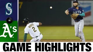 Mariners vs. A's Game Highlights (8/23/21)