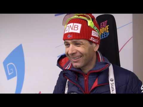 Ole Einar BJOERNDALEN. Interview. World Championship 2016 Norway HOLMENKOLLEN