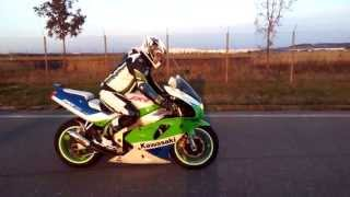 kawasaki zxr 750 burnout wheelie
