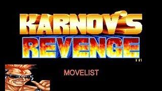 Karnov's Revenge Movelist: Matlok's Special Moves