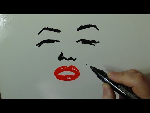 Marilyn and Elvis - Pop Art Drawing - Awesome People