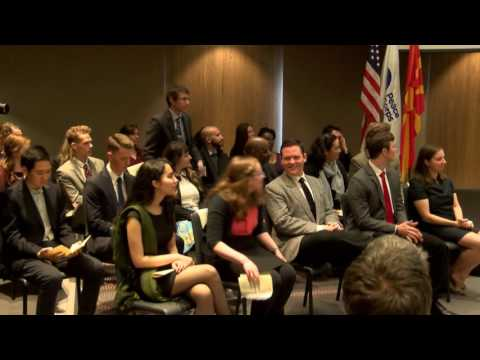 Peace Corps Macedonia Swearing-In Ceremony 2016