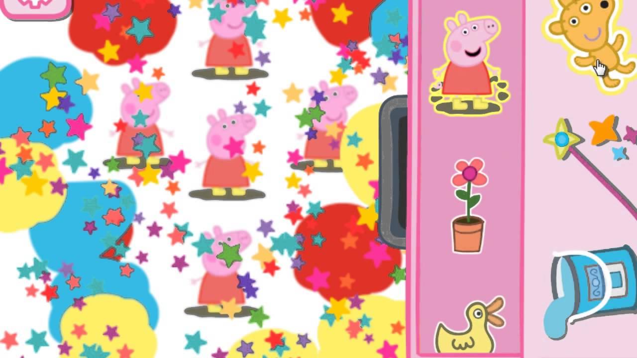 Свинка Пеппа игра раскраска для самых маленьких.Игры для ...