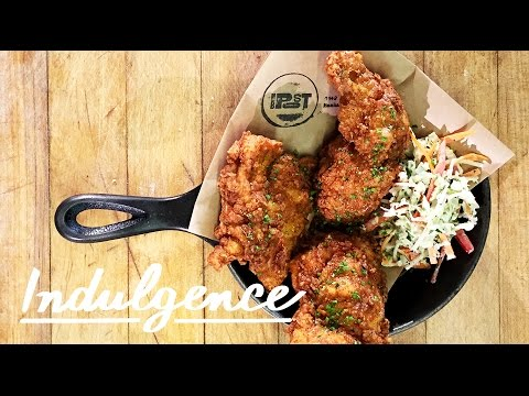Fried Chicken for Brunch with Truffle Honey Drizzled on Top