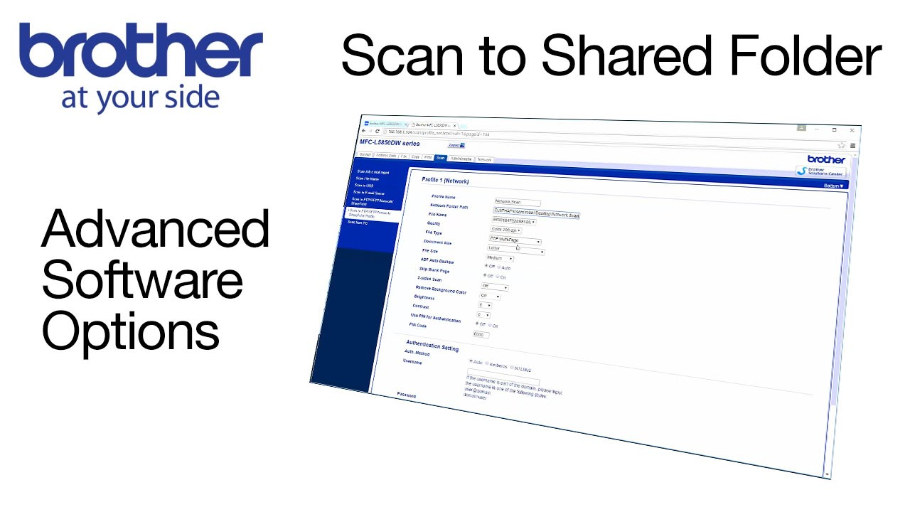 Scan to a network folder from your Brother machine