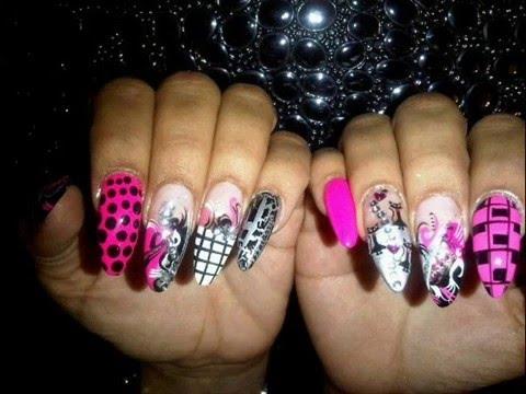 stiletto nails . angela's