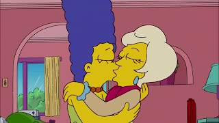 the  SIMPSON   MARGE kissing  girls lesbian