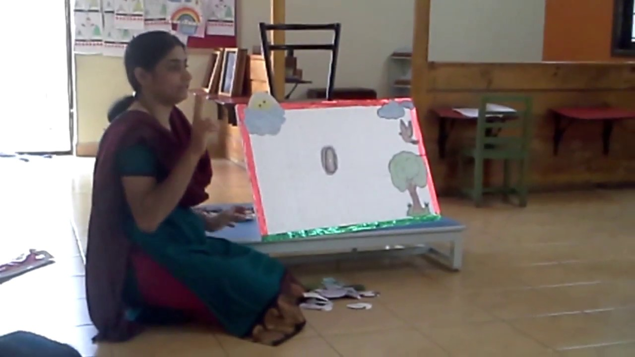 Story telling with props-The hungry Caterpillar @ Usha montessori  ,Bangalore,India