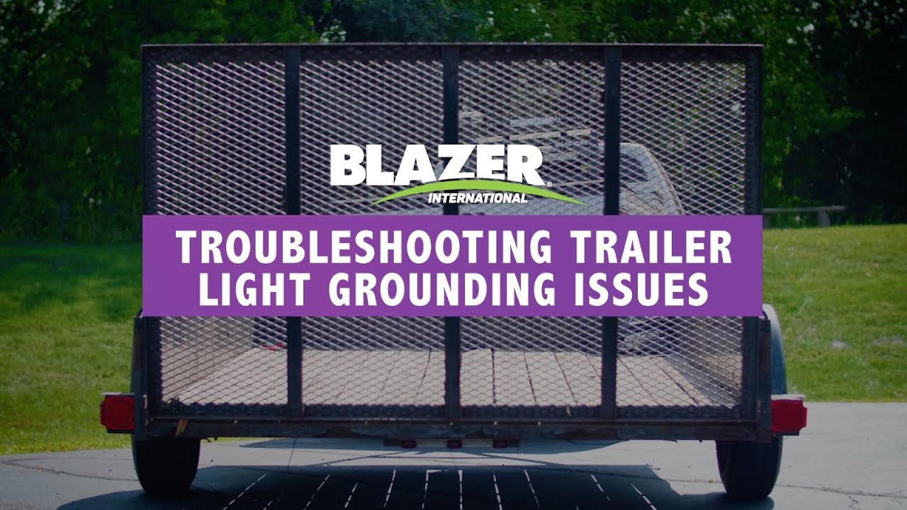 Ez Loader Trailer Lights Wiring Diagram 99 S10 Brake Light Troubleshooting Grounding Issues Youtube