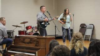 12-year old Olivia and her father performing Travelin' Soldier, by Dixie Chicks