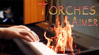 Torches / Aimer - Vinland Saga ED - Piano Cover (Full Extended) (Lyrics Video)