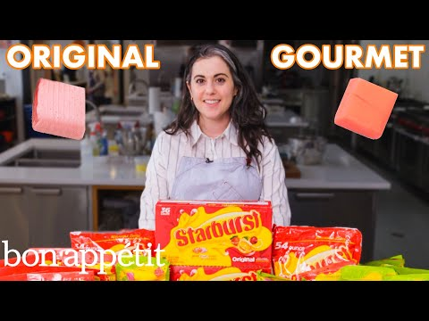Pastry Chef Attempts to Make Gourmet Starburst | Gourmet Makes | Bon Apptit