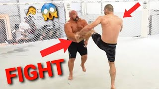 """""""FIGHT BREAKS OUT"""" AT THE GYM BETWEEN UFC FIGHTER AND JIU JITSU CHAMPION"""