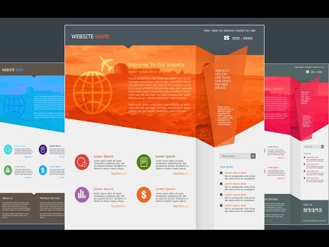 Photoshop Tutorial Web Design Flat Style