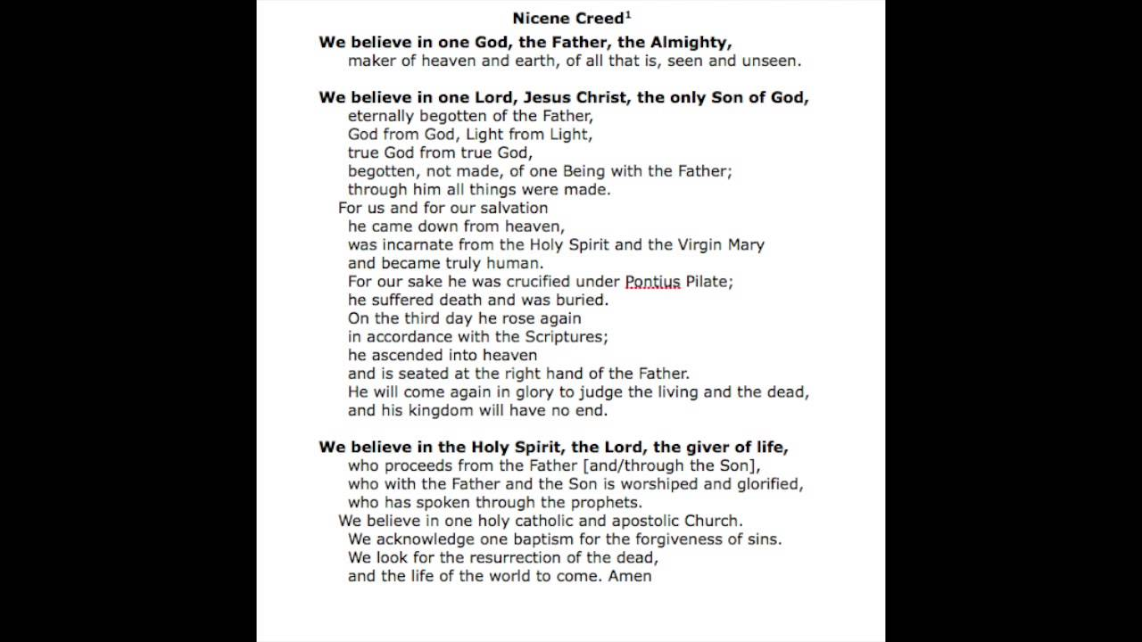 Nicene Creed Song Video - YouTube