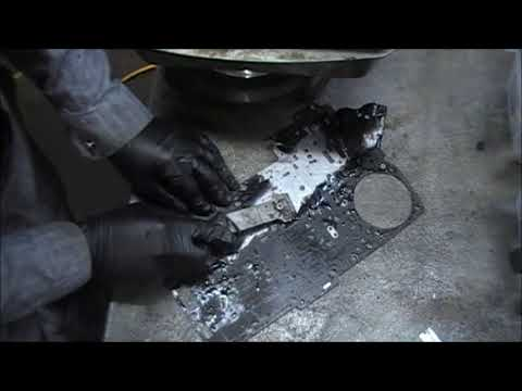 TRANSMISSION VALVEBODY GASKET REMOVAL FROM SPACER PLATE